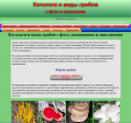 Каталоги и виды грибов с фото, названиями и описан - http://katalogigribov.ru