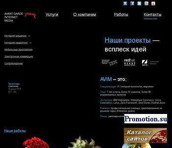 Продвижение сайта, cоздание сайта - http://www.avim.ru/